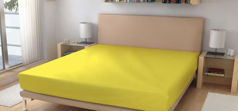Prostěradlo elastické froté žlutá 90x200 cm