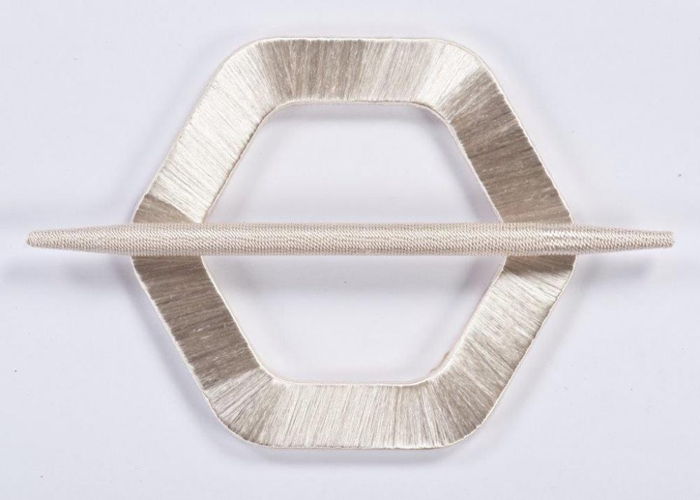 Spona závěsu Vanda stříbrná