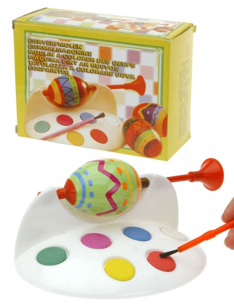 Souprava velikonoční na malování vajec - stojánek+štětec+barvy