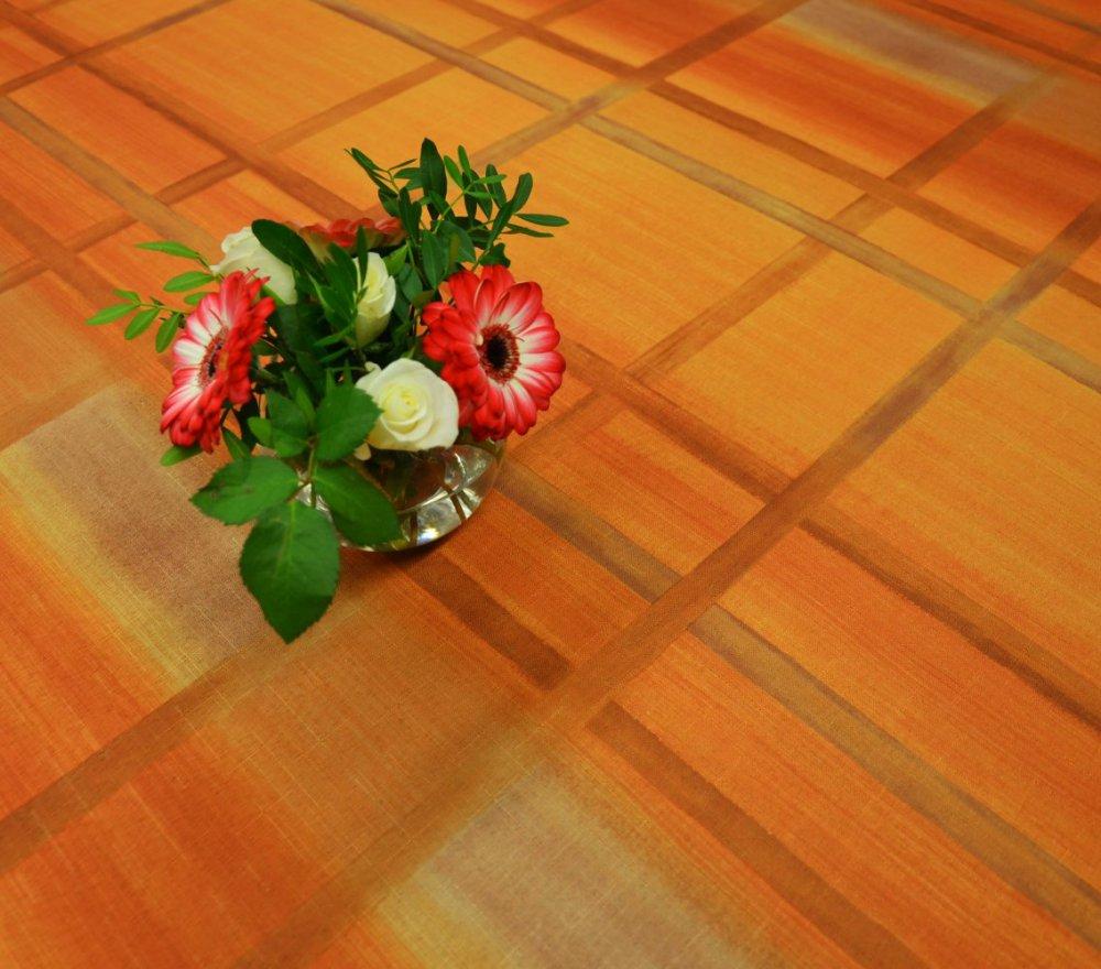 Teflonový ubrus tištěný Čtverce hnědá 120x120cm