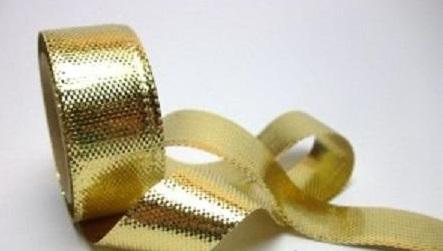 Stuha lamée 1mm - zlatá