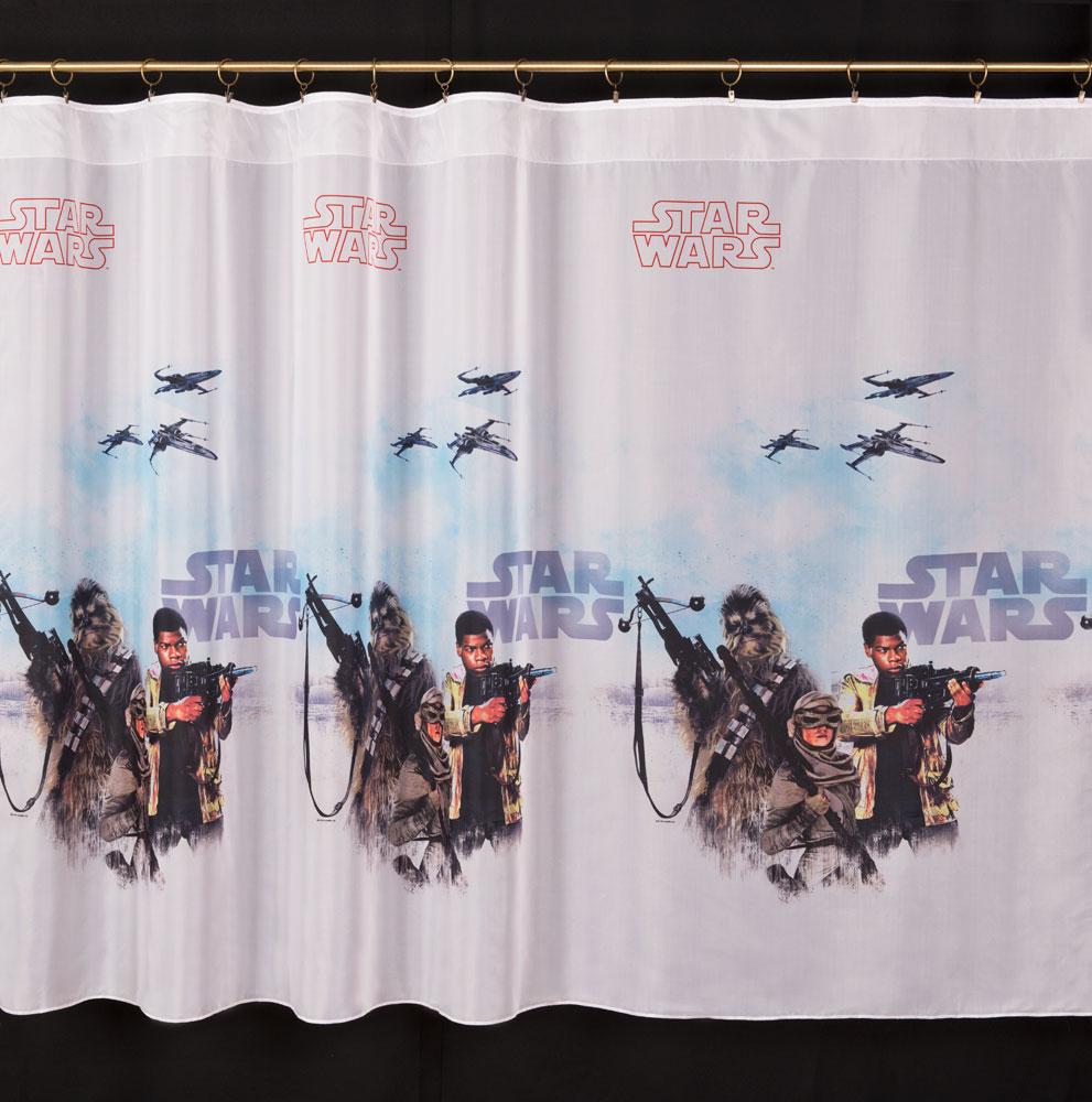 Záclona Star Wars 160 cm bez obšití 160