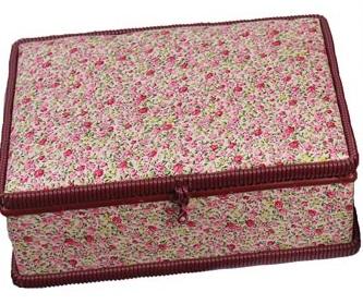 Kazeta na šití - kytičky růžové