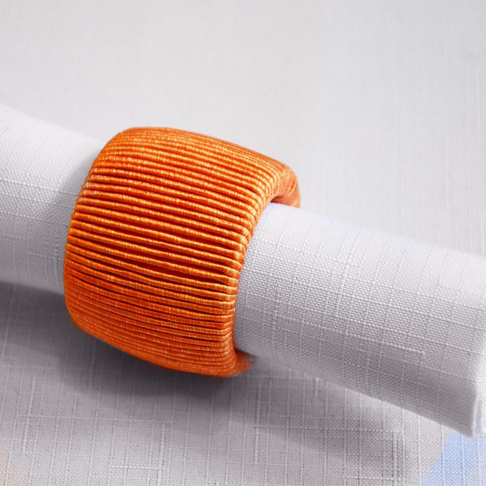 Kroužek na ubrousky oranžový