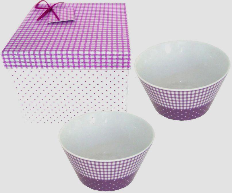 Miska v dárkovém balení - fialová