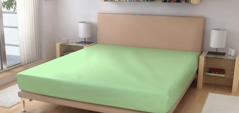 Prostěradlo elastické froté sv. zelená 90x200 cm