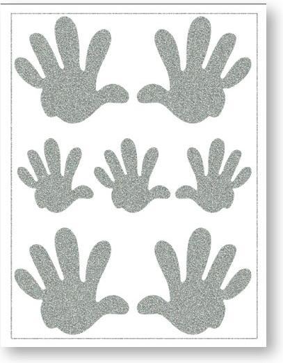 Nažehlovací reflexní fólie - Ruce