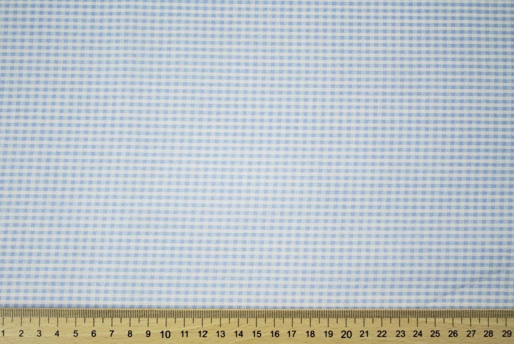 Dekorační látka modro bílá kostička bez obšití 140