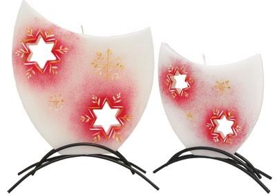 Svíčka vánoční hvězda - červená