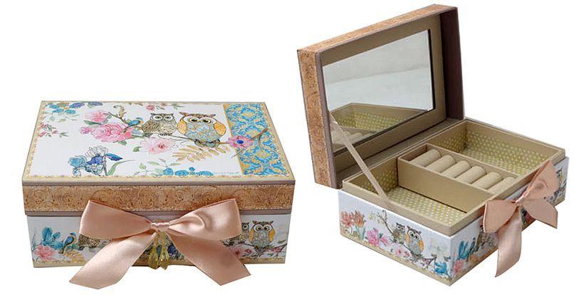 Krabička na šperky - Sovy
