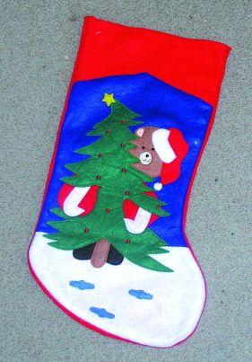 Punčocha vánoční 47x21cm
