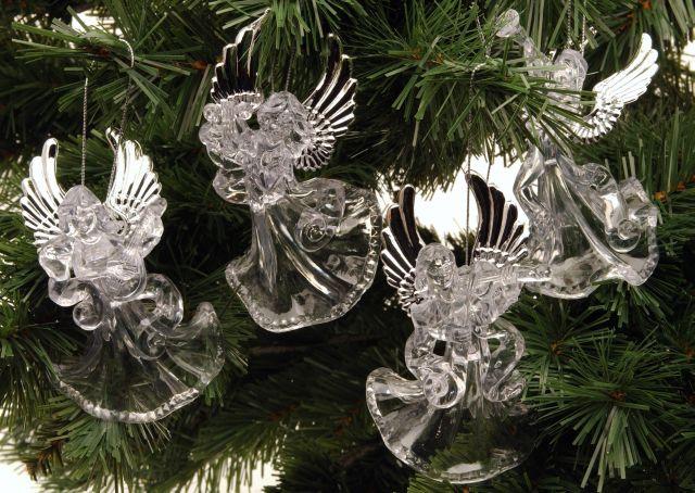 Vánoční dekorace - Anděl skleněný