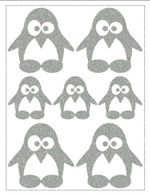 Nažehlovací reflexní fólie - Tučňáčci