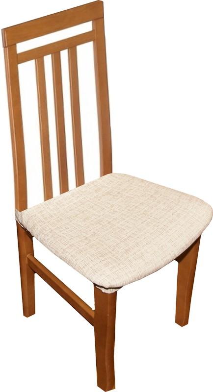 Potahy na židle Andrea - bílo-béžová 2 ks