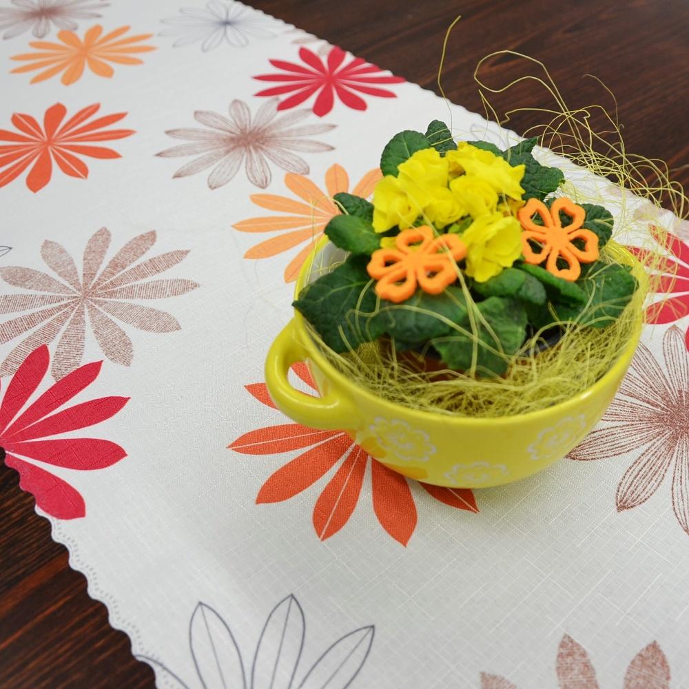 Dekorační látka květy 38 cm