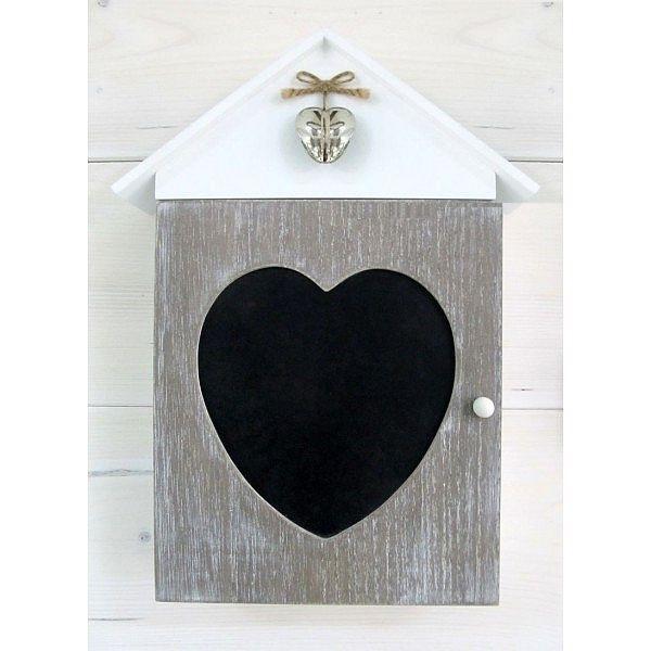 Dřevěná skříňka na klíče s tabulí