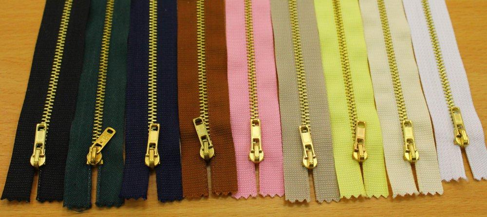 Zip kalhotový 6 mm - 8 cm - šedá