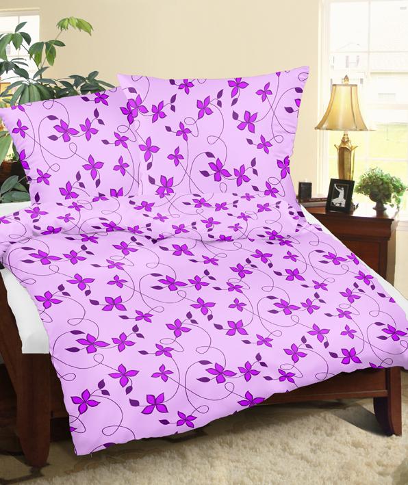 Povlečení krep Karmen fialové 140 x 200 cm