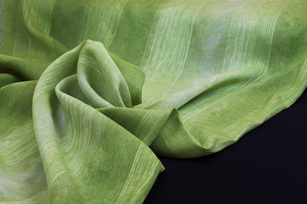 Dekorační látka Etamina zelená bez obšití 140